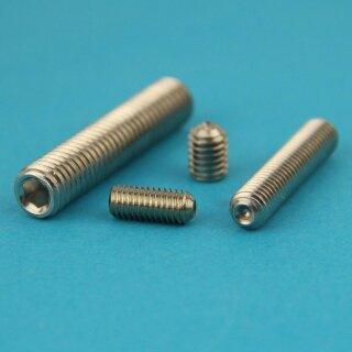 Edelstahl A2 V2A - Madenschrauben DIN 914 rostfrei M3 x 5 mm Gewindestift mit Innensechskant und Spitze Eisenwaren2000 ISO 4027 Gewindeschrauben 10 St/ück