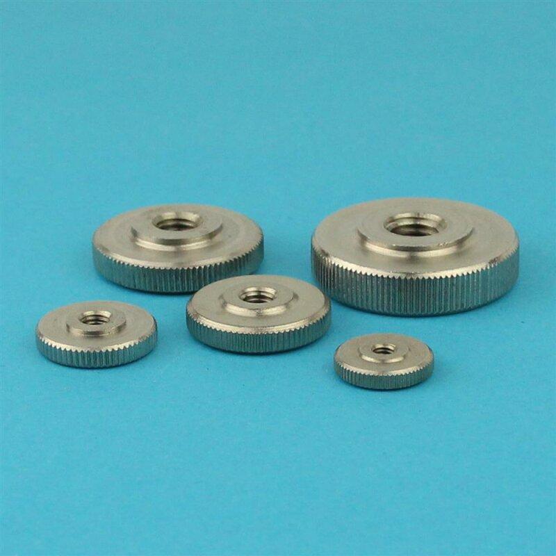 Rändelmuttern Edelstahl A1 M3 bis M10 DIN 467 niedrige Form