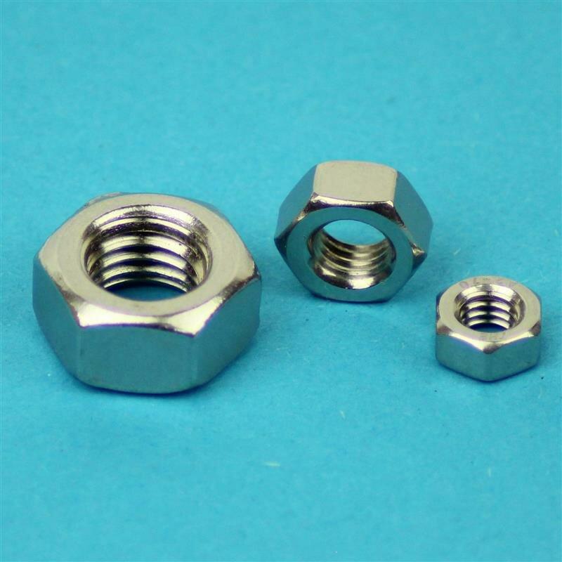 Sechskantmuttern 5 mm DIN 934 M 5  Edelstahl A2 10 Stk.