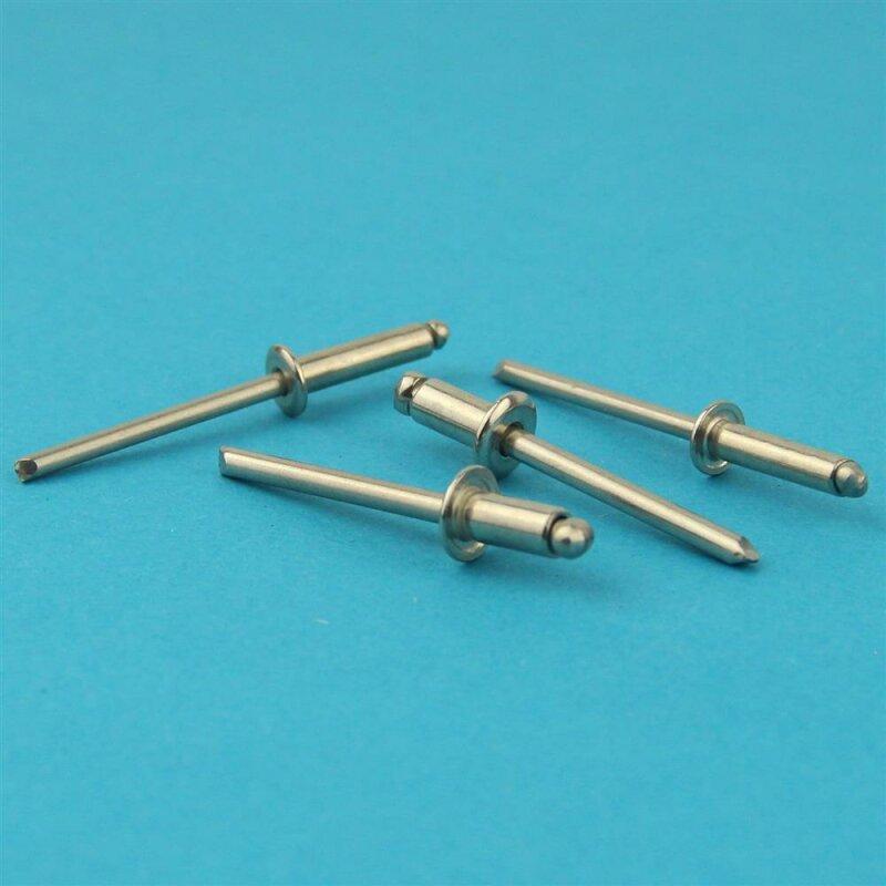 rostfrei 10 St/ück | Nieten DERING Blindniet 6,0x12 mm mit Flachkopf DIN 7337 Edelstahl A2