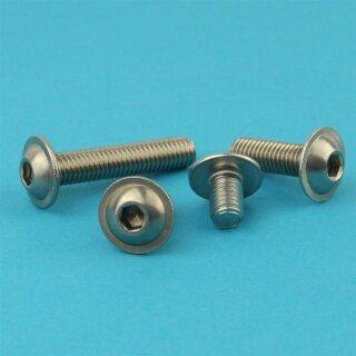10 Stück Linsenkopfschrauben ISO 7380 A4 M6X8 Edelstahl V4A Innensechskant