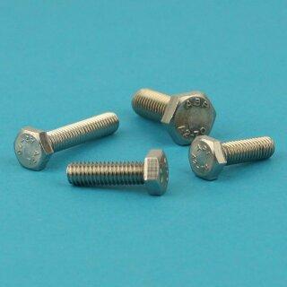 Edelstahl A2-70 Gewinde bis Kopf M10x 60 50 Stück Sechskantschrauben DIN 933