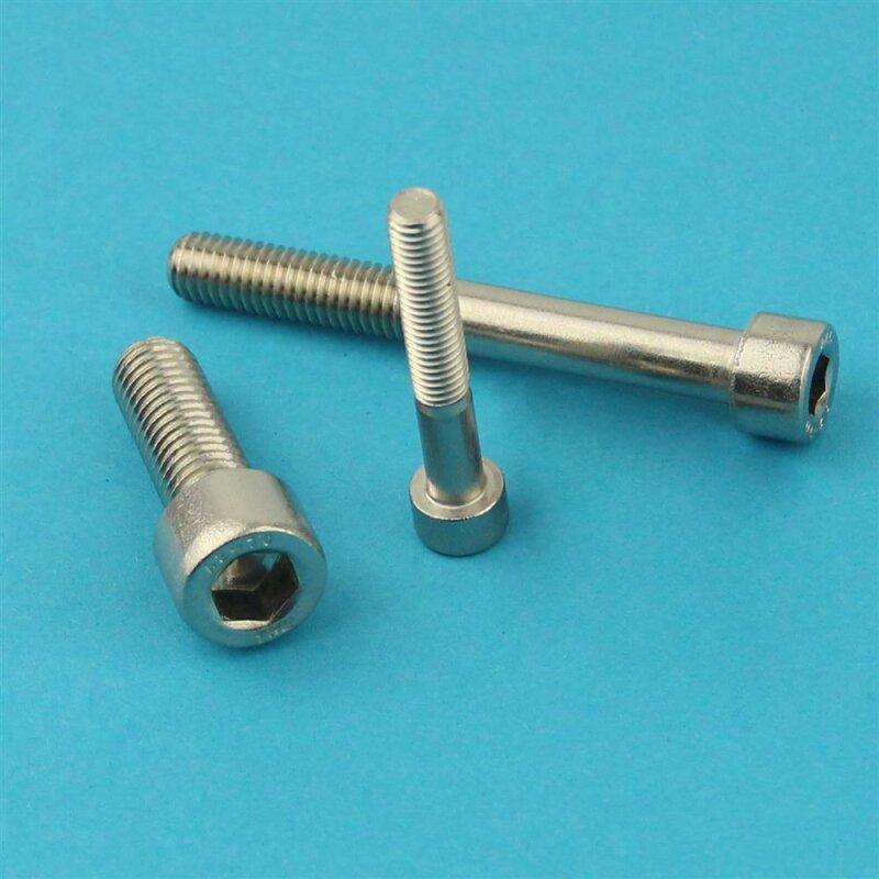 100 Stück Zylinderschrauben M8 x 30mm Edelstahl A2 DIN 912 mit Innensechskant